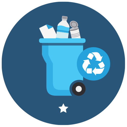 A implanté la collecte des matières recyclables